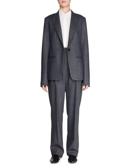 Naycene One-Button Wool-Blend Jacket