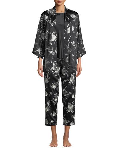 Miyako Embroidered Short Robe and Matching Items