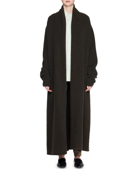 Giolo Long Cashmere-Blend Cardigan