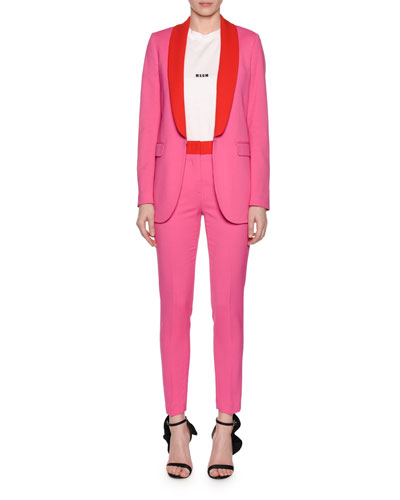 Straight-Leg Skinny Suiting Pants and Matching Items