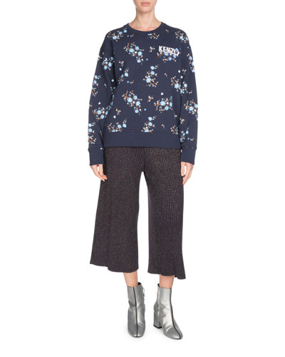 Comfort Floral-Print Crewneck Logo Sweatshirt and Matching Items