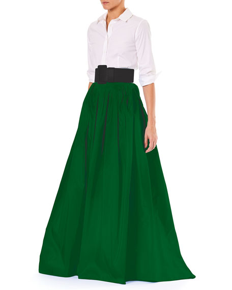Finale Silk Ball Skirt w/ Train