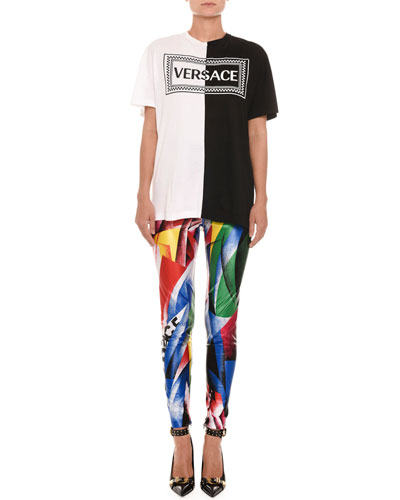 Clash-Print Fitted Lycra® Leggings  and Matching Items