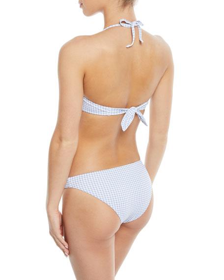Betty Check Bandeau Bikini Top