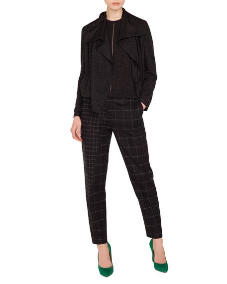 Rochelle Draped-Lapel Cashmere-Silk Reversible Jacket