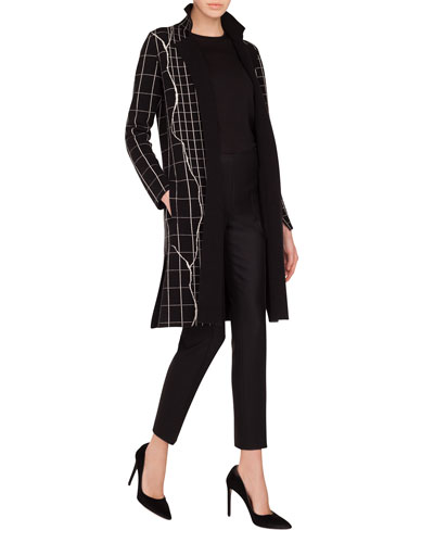 Round-Neck Long-Sleeve Cashmere-Silk Knit Tunic and Matching Items