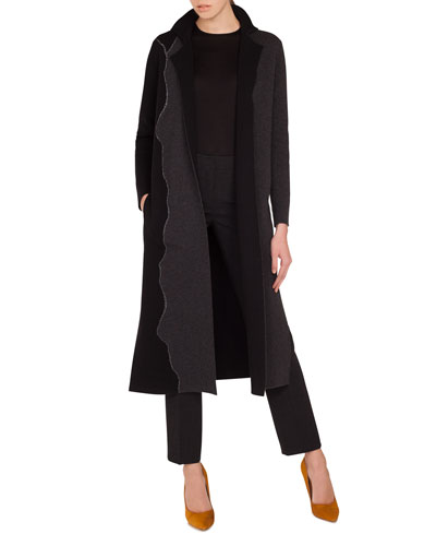 Reversible Self-Belt Bicolor Cashmere Coat  and Matching Items