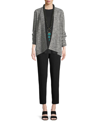 Jacquard Knit Short Eco Cotton Kimono Jacket, Plus Size and Matching Items