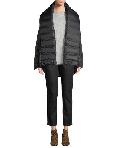 High Shawl-Collar Kimono Puffer Coat and Matching Items
