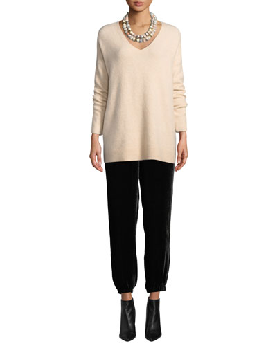 Cashmere-Blend V-Neck Tunic Sweater and Matching Items