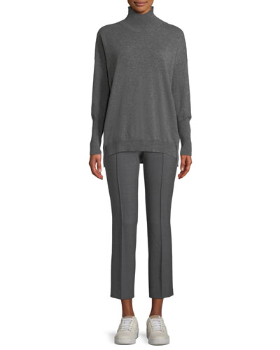 Turtleneck 12-Gauge Cashmere Oversized Pullover Sweater and Matching Items