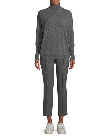 Eternals 12-Gauge Cashmere Geo-Slit Turtleneck Pullover Sweater