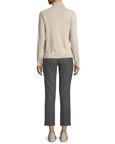 Eternals 12-GG Cashmere Geo-Slit Turtleneck Sweater