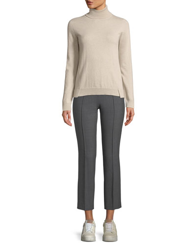 Eternals 12-GG Cashmere Geo-Slit Turtleneck Sweater and Matching Items