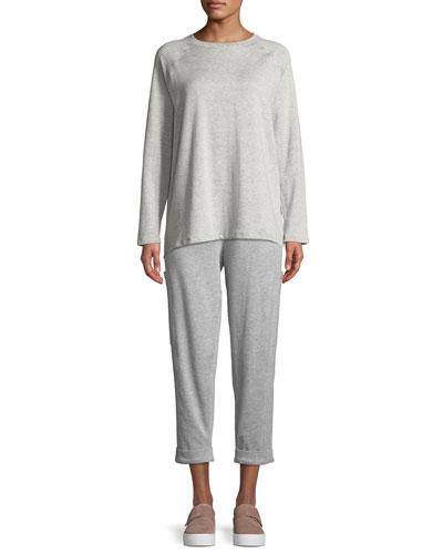 Long-Sleeve Tencel Fleece Top and Matching Items
