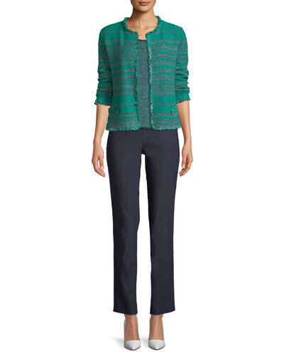 Must Have Open-Front Tweed Jacket w/ Fringe Trim  Plus Size and Matching Items