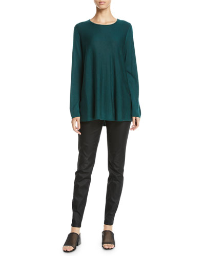 Tencel®/Silk Round-Neck Sweater  and Matching Items