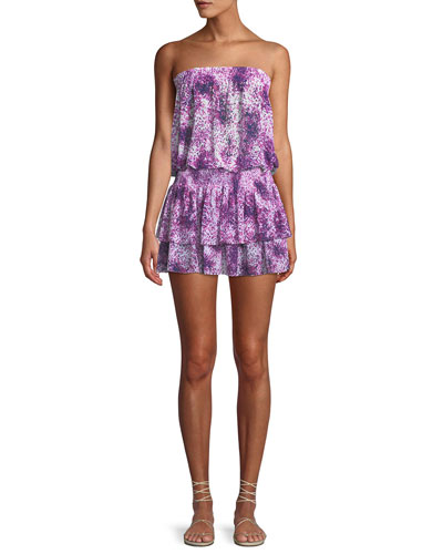 Yanni Printed Strapless Blouson Top and Matching Items