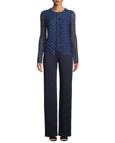 Metallic Diamond Lace Knit Cardigan and Matching Items