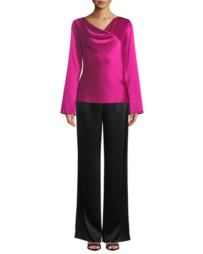 Kate Satin Wide-Leg Pants and Matching Items