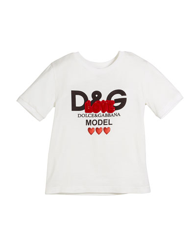 Love D&G Model Logo Tee, Size 4-6  and Matching Items