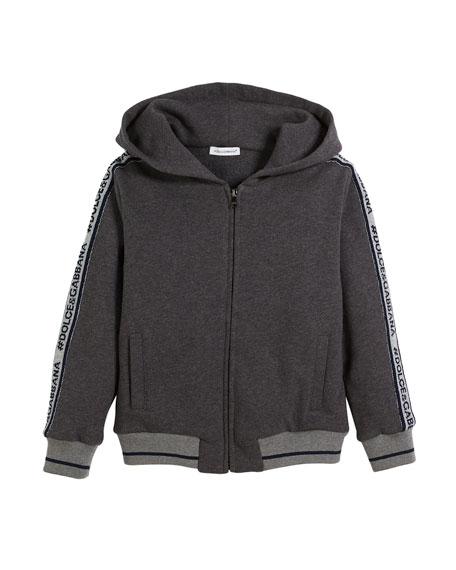 D&G Logo Tape-Detail Hoodie Sweatshirt, Toddler Boys