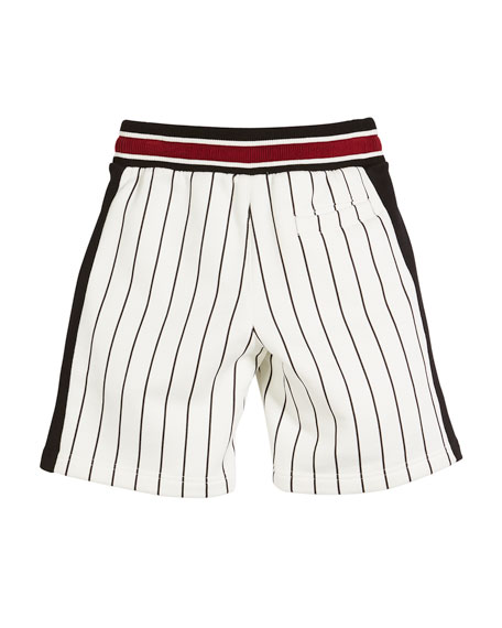 Striped D&G Baseball Shorts, Toddler Boys