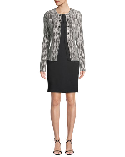 Milano-Knit Scoop-Neck Sheath Dress and Matching Items