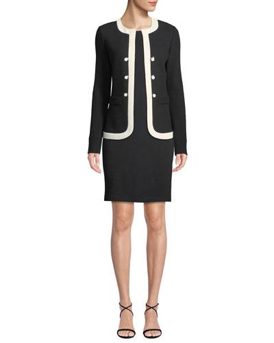 Irina Two-Tone Knit Jacket  and Matching Items