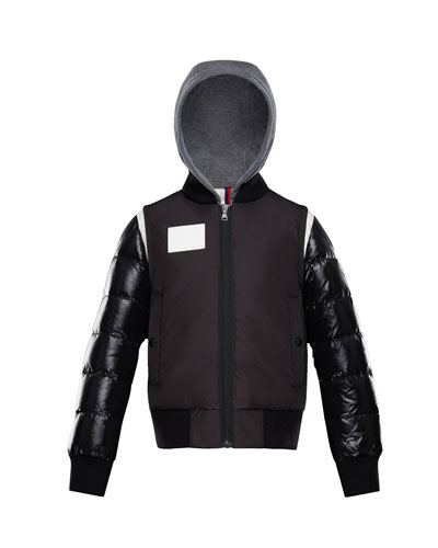 Montpellier Mixed-Media Hooded Jacket, Size 4-6  and Matching Items