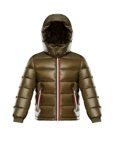 Gastonet Puffer Coat w/ Tricolor Zippers, Size 4-6 and Matching Items