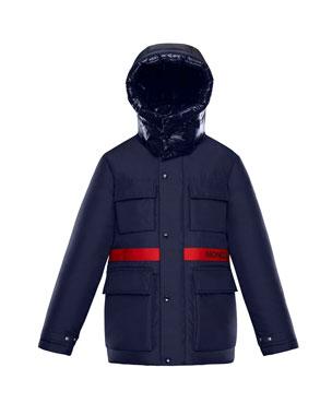 b0bcd57cb97 Moncler Perpignan Mixed-Material Hooded Jacket