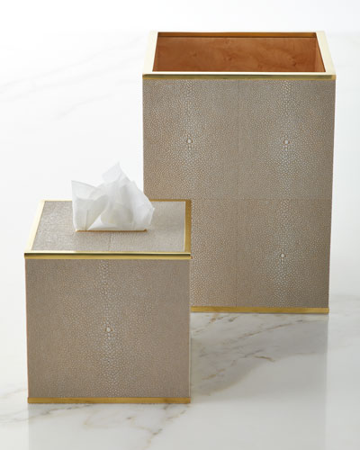 Classic Shagreen Tissue Box Cover  and Matching Items