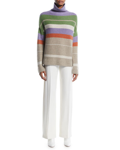 Darlington Turtleneck Striped Cashmere Knit Sweater and Matching Items