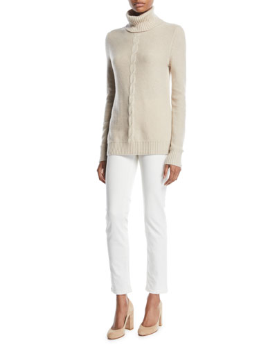 Long-Sleeve Turtleneck Cashmere Sweater and Matching Items