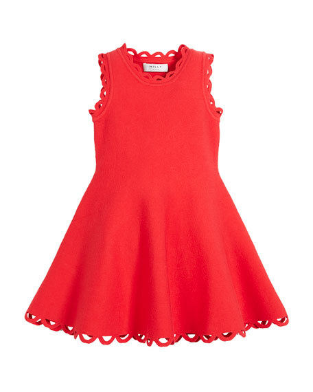 Eyelet Fit-and-Flare Dress, Size 4-7
