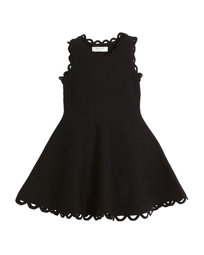 Eyelet Fit-and-Flare Dress, Size 4-7 and Matching Items