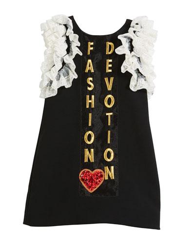 Fashion Devotion Lace-Trim Dress, Size 4-6  and Matching Items
