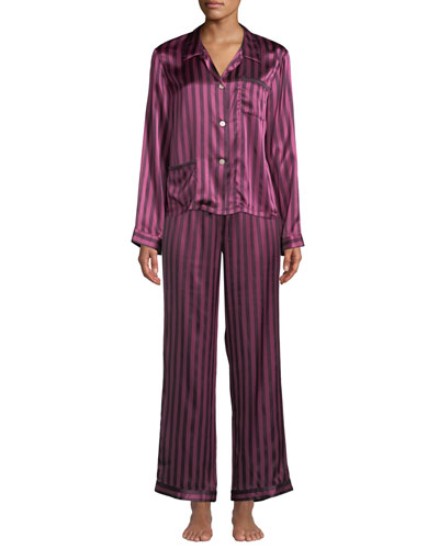 Ruthie Plumette Striped Pajama Top and Matching Items