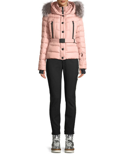 Beverly Fitted Puffer Coat w/ Removable Fur and Matching Items