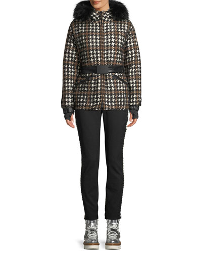 Gardena Houndstooth Coat w/ Lamb Shearling and Matching Items
