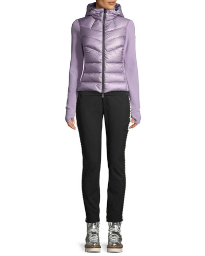 Combo Jacket w/ Fleece Knit & Chevron Quilted Front and Matching Items