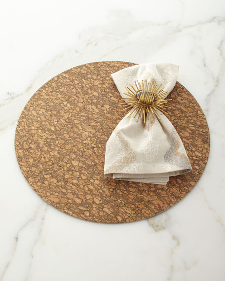 Marrakech Napkin, Natural/Ivory/Gold