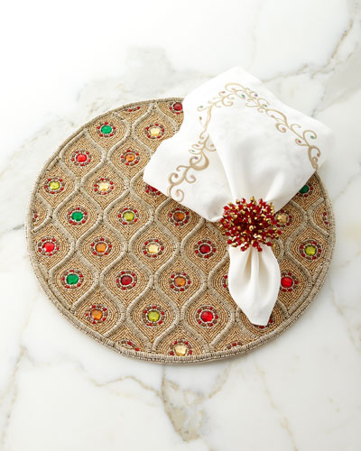 Brilliant Napkin Ring - Red and Matching Items