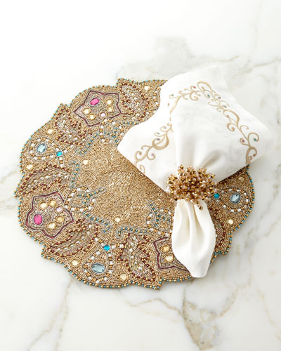 Brilliant Napkin Ring - Golden and Matching Items