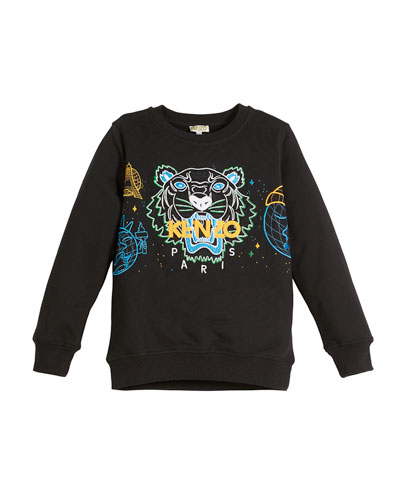 Tiger Icon Embroidered Sweatshirt, Size 2-6  and Matching Items