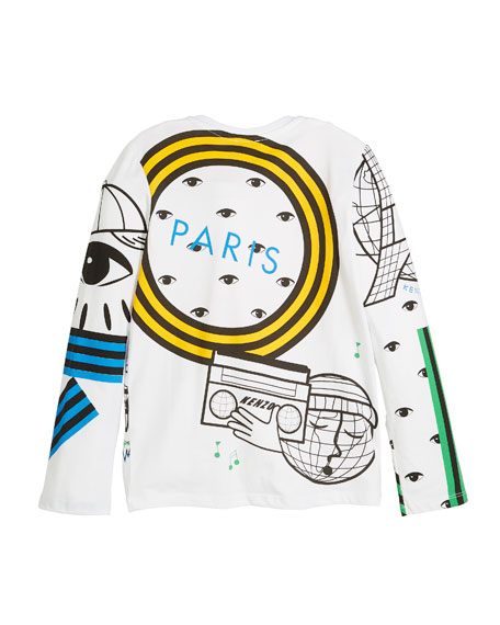 Multi-Tech Icon Graphic Long-Sleeve Tee, Size 2-6