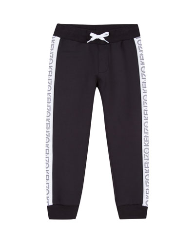 Tricot Jogger Pants w/ Logo Tape Sides, Size 2-6  and Matching Items