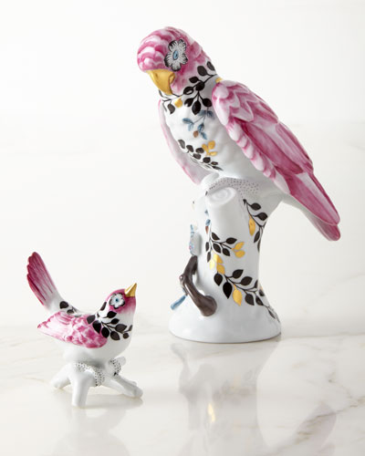 Porcelain Parrot and Matching Items