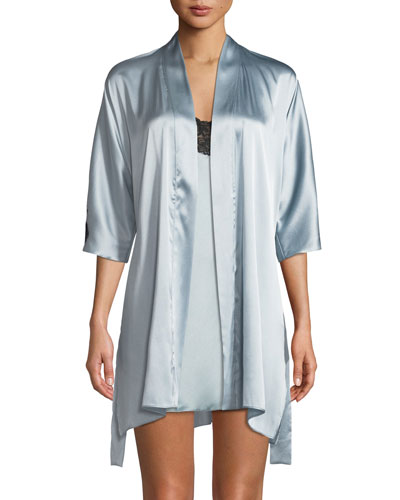 Flutter 3/4-Sleeve Charmeuse Robe and Matching Items